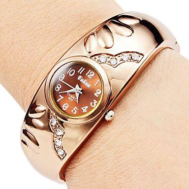 e90804357a9 Pulseira da Mulher estilo analógico liga relógio de quartzo - Cheap ...